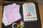 New active wear clothes, toys and Sophie the Giraffe