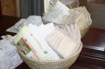 Earth-friendly diapers and wipes ready for action!