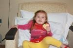 "Cousin Amelia enjoys aunt Corey's ""special Sophia"" cookies"