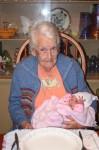 Great Grandma Hensinger with Sophia