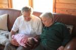 Grandpa and Grandma Forbes visit