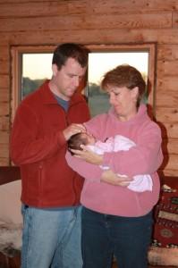 Aunt Anna holds Sophia