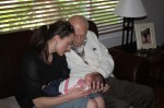 Baby Sophia meets her Great Grandpa Chauvin