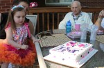 Amelia and Nana Chauvin make a wish