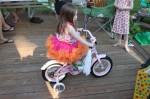 Amelia's new pink bike