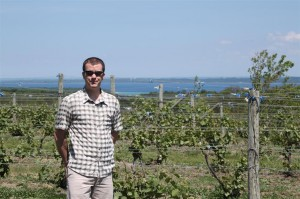 Ciccone Winery and the west arm of Grand Traverse Bay