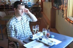 "L. Mawby vineyards ""champagne"" tasting"