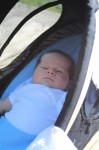 Sophia chillin in her Svan bouncer out on the dock