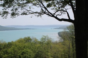 Glen Lake near Sleeping Bear Dunes and Lake Michigan