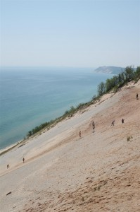 One of the dune climbs at Sleeping Bear Dunes National Lakeshore