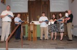 The beginning of the baptismal ceremony