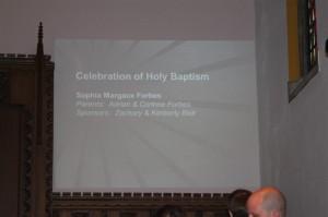 The baptismal ceremony