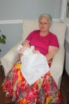 Grandma Forbes and Sophia in the dress that her great, great Aunt Ummie handmade