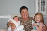 Nana Chauvin with Sophia and Amelia