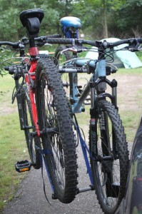 Our Gary Fisher's ready for action...the mountain biking trails at the park are well known in the area